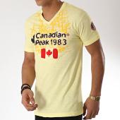 /achat-t-shirts/canadian-peak-tee-shirt-col-v-jundai-jaune-172076.html