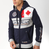 /achat-sweats-zippes-capuche/canadian-peak-sweat-zippe-capuche-face-bleu-marine-gris-chine-172179.html