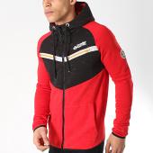 /achat-sweats-zippes-capuche/canadian-peak-sweat-zippe-capuche-genghini-rouge-noir-172187.html
