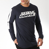 /achat-t-shirts-manches-longues/classic-series-tee-manches-longues-jike-bleu-marine-ecru-172071.html