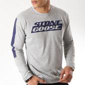 /achat-t-shirts-manches-longues/classic-series-tee-shirt-manches-longues-jike-gris-chine-bleu-marine-172072.html