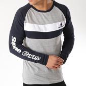 /achat-t-shirts-manches-longues/classic-series-tee-shirt-manches-longues-joronet-gris-chine-bleu-marine-blanc-172084.html