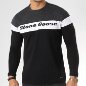 /achat-t-shirts-manches-longues/classic-series-tee-shirt-manches-longues-jurasid-gris-anthracite-chine-noir-blanc-172100.html