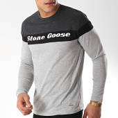 /achat-t-shirts-manches-longues/classic-series-tee-shirt-manches-longues-jurasid-gris-clair-chine-gris-anthracite-chine-noir-172101.html