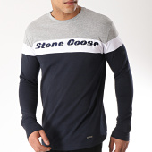 /achat-t-shirts-manches-longues/classic-series-tee-shirt-manches-longues-jurasid-gris-clair-chine-bleu-marine-blanc-172103.html