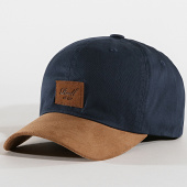 /achat-casquettes-de-baseball/reell-jeans-casquette-curved-suede-bleu-marine-marron-172004.html