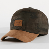 /achat-casquettes-de-baseball/reell-jeans-casquette-curved-suede-marron-vert-kaki-camouflage-172007.html