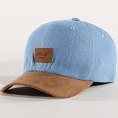 /achat-casquettes-de-baseball/reell-jeans-casquette-curved-suede-bleu-clair-marron-172010.html