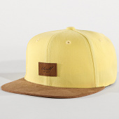 /achat-snapbacks/reell-jeans-casquette-snapback-suede-jaune-marron-172017.html