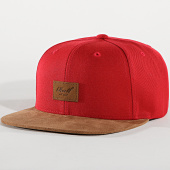/achat-snapbacks/reell-jeans-casquette-snapback-suede-rouge-marron-172021.html