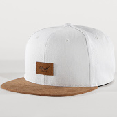 /achat-snapbacks/reell-jeans-casquette-snapback-suede-blanc-marron-172031.html