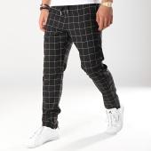 /achat-pantalons-carreaux/sixth-june-pantalon-carreaux-avec-bandes-satine-m3717cpa-noir-ecru-172011.html