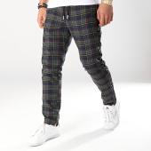 /achat-pantalons-carreaux/sixth-june-pantalon-carreaux-avec-bandes-satine-m3717cpa-bleu-marine-vert-172013.html