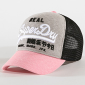 /achat-trucker/superdry-casquette-trucker-femme-premium-goods-g90103mt-gris-chine-rose-noir-172029.html
