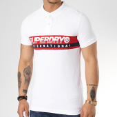 /achat-polos-manches-courtes/superdry-polo-manches-courtes-international-chest-m11011rt-blanc-172037.html