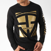 /achat-sweats-col-rond-crewneck/93-empire-sweat-crewneck-93-square-noir-dore-172276.html