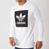 /achat-t-shirts-manches-longues/adidas-tee-shirt-manches-longues-trefoil-du8333-blanc-noir-172369.html
