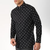 /achat-chemises-manches-longues/calvin-klein-chemise-manches-longues-monogram-11092-noir-blanc-172332.html