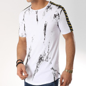 /achat-t-shirts-longs-oversize/ikao-tee-shirt-oversize-avec-bandes-f487-blanc-172295.html
