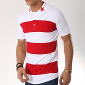 /achat-polos-manches-courtes/ikao-polo-manches-courtes-oversize-f488-blanc-rouge-172296.html