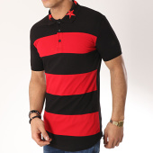 /achat-polos-manches-courtes/ikao-polo-manches-courtes-oversize-f488-noir-rouge-172298.html