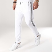 /achat-pantalons-joggings/ikao-pantalon-jogging-avec-bandes-f459-blanc-172340.html