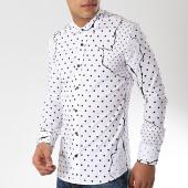 /achat-chemises-manches-longues/ikao-chemise-manches-longues-f477-blanc-noir-172347.html