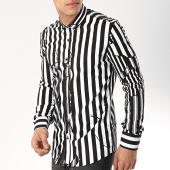 /achat-chemises-manches-longues/ikao-chemise-manches-longues-f478-noir-blanc-172351.html