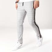 /achat-pantalons-carreaux/ikao-pantalon-carreaux-avec-bandes-f458-gris-noir-172379.html