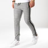/achat-pantalons-carreaux/ikao-pantalon-carreaux-avec-bandes-f458-noir-172380.html