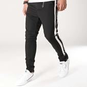 /achat-pantalons-carreaux/ikao-pantalon-avec-bandes-f457-noir-blanc-172390.html