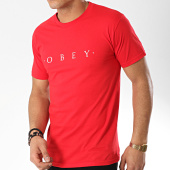 /achat-t-shirts/obey-tee-shirt-novel-rouge-172214.html