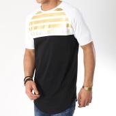 /achat-t-shirts-longs-oversize/gianni-kavanagh-tee-shirt-oversize-gk-gold-stripes-blanc-noir-dore-172502.html
