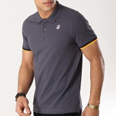 /achat-polos-manches-courtes/k-way-polo-manches-courtes-vincent-contrast-gris-anthracite-172603.html