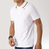 /achat-polos-manches-courtes/k-way-polo-manches-courtes-jude-stripes-blanc-172604.html