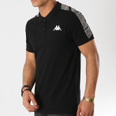 /achat-polos-manches-courtes/kappa-polo-manches-courtes-avec-bandes-gasto-304n3e0-noir-gris-chine-172520.html