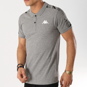 /achat-polos-manches-courtes/kappa-polo-manches-courtes-avec-bandes-gasto-304n3e0-gris-chine-172521.html
