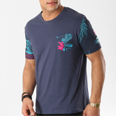 /achat-t-shirts-poche/mtx-tee-shirt-poche-f1036-bleu-marine-floral-172563.html
