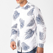 /achat-chemises-manches-longues/mtx-chemise-manches-longues-col-mao-xs1402-blanc-bleu-marine-floral-172610.html