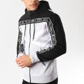 /achat-sweats-zippes-capuche/umbro-sweat-zippe-capuche-avec-bandes-authentic-697371-60-gris-chine-noir-172616.html