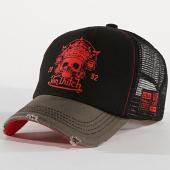 /achat-trucker/von-dutch-casquette-trucker-road-skull-noir-gris-rouge-172561.html