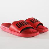 /achat-claquettes-sandales/calvin-klein-claquettes-slide-376-rouge-noir-172703.html