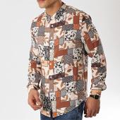 /achat-chemises-manches-longues/mtx-chemise-manches-longues-tm0035-beige-marron-noir-floral-172655.html