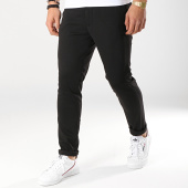 /achat-pantalons-carreaux/selected-pantalon-jersey-noir-172786.html