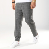 /achat-pantalons-carreaux/selected-pantalon-carreaux-jersey-gris-anthracite-noir-172787.html