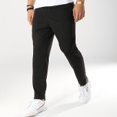 /achat-pantalons-carreaux/selected-pantalon-jersey-noir-172789.html
