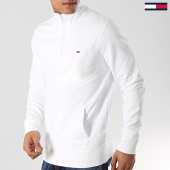 /achat-sweats-col-zippe/tommy-hilfiger-jeans-sweat-col-zippe-novelty-mock-6050-blanc-172746.html
