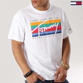 /achat-t-shirts/tommy-hilfiger-jeans-tee-shirt-tommy-rainbow-box-6079-blanc-172749.html