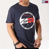 /achat-t-shirts/tommy-hilfiger-jeans-tee-shirt-circle-graphic-6081-bleu-marine-172750.html