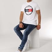 /achat-t-shirts/tommy-hilfiger-jeans-tee-shirt-circle-graphic-6081-blanc-172752.html